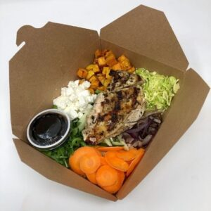 Sweet Potato Power Box with Grilled Chicken